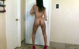 Naked latina slut riding dildo..