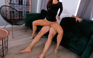 Long legged chick fucked from..
