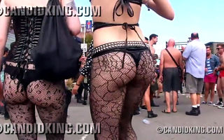 Sexy emo girls walking in fishnet..